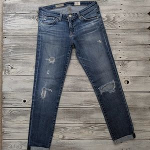 AG ADRIANO GOLSCHMIED Jeans Stilt Roll Up Cropped